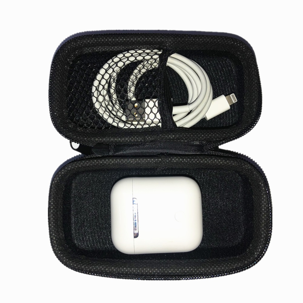 Earbud Headphones Case Bluetooth Headset Travel Carrying Case for Apple AirPods 1/2 black