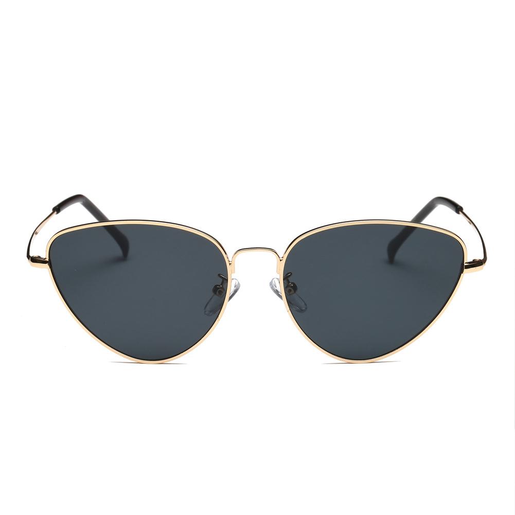 Women Fashion Metal Frame Cat-eye Shape Sunglasses