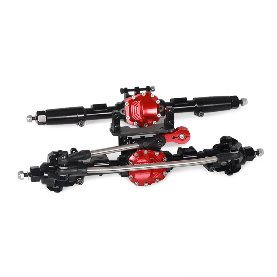 1/10 RC SCX10 II 90046 Metal Front Rear Axle (Rear Axle Reverse) black