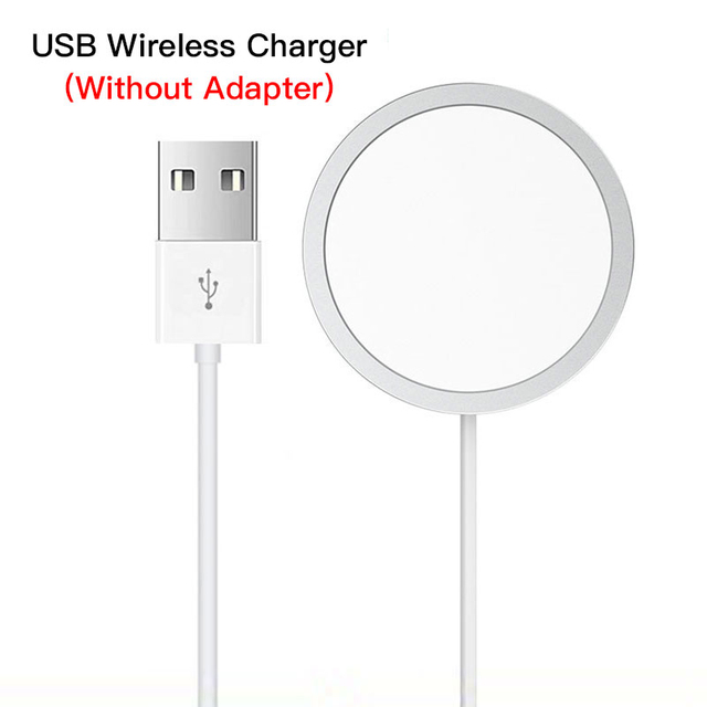 Magnetic 15w Wireless Charger Phone Holder Fast Charger Dock Pd Plug Wireless Charge white