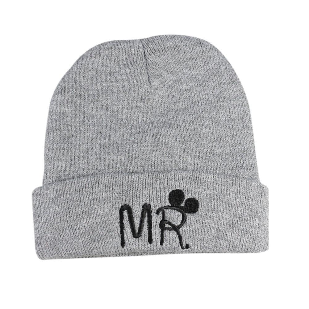 Baby Children Creative Cartoon Bow-knot Embroidery Beanie Hat Breathable Knitted Cap for Winter