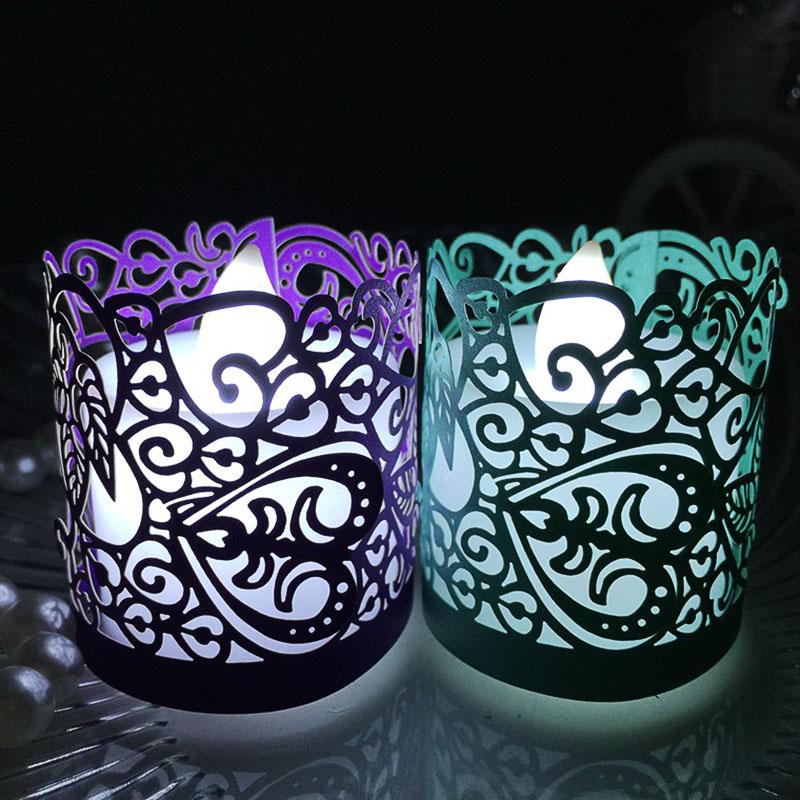 20PCS Flameless Tea Light Votive Wraps For Flickering LED Battery Tealight Candles