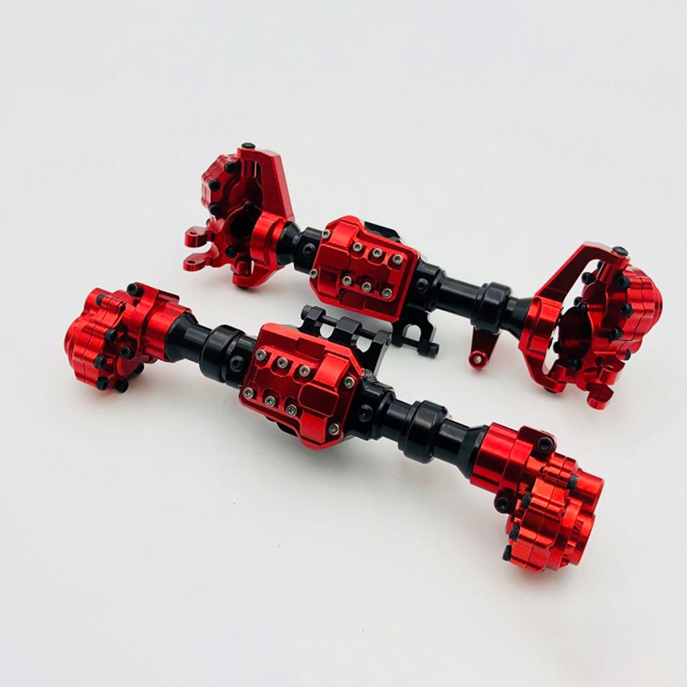 2PCS/Set Aluminum Front Rear Portal Axles Housing for Traxxas TRX-4 Crawler red