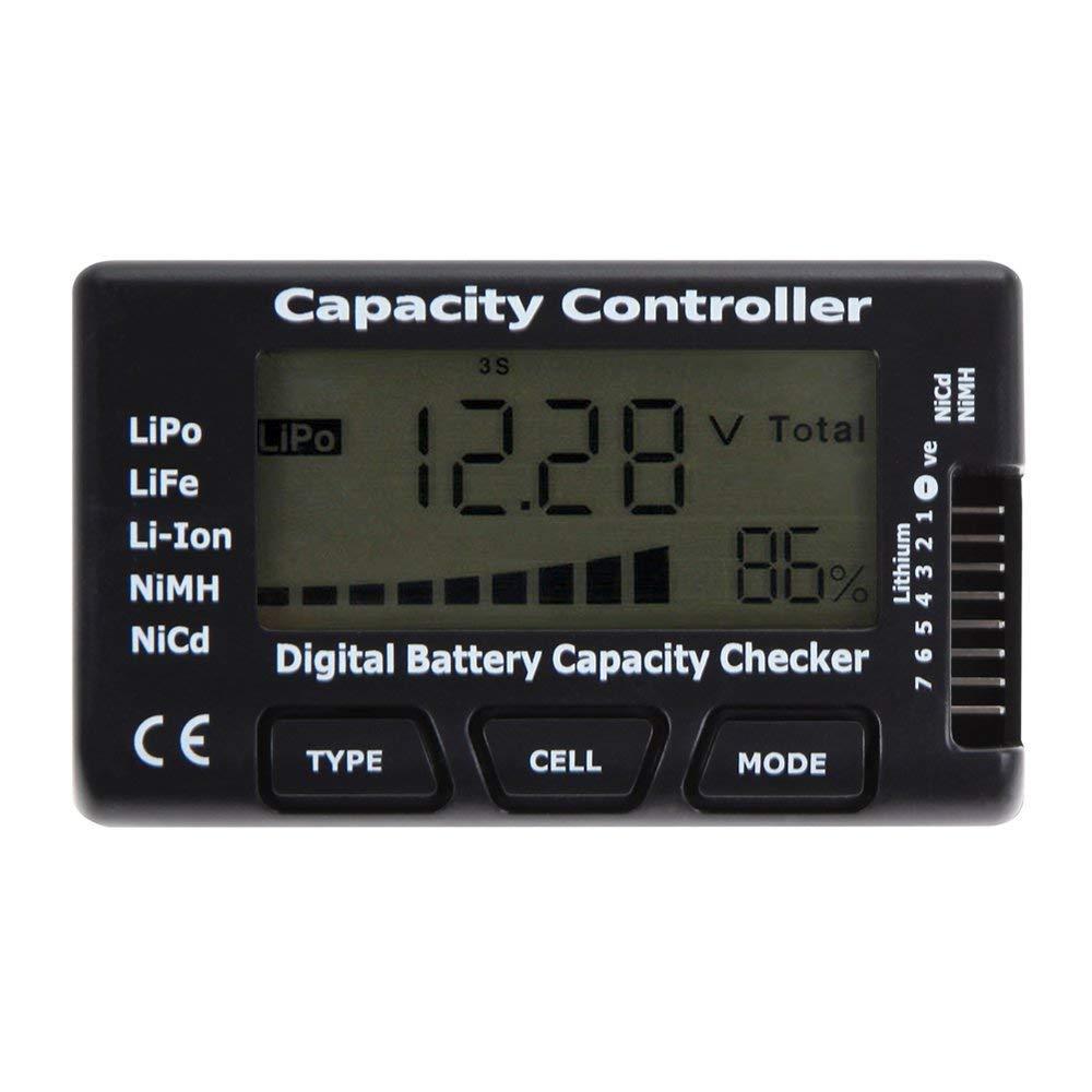 Cellmeter7 Digital Battery Capacity Checker Controller Tester for LiPo/LiFe/ Li-ion/NiMH/Nicd  black