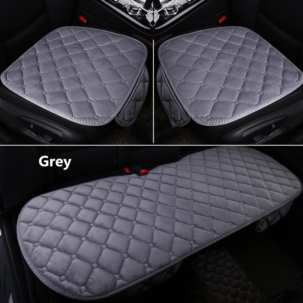 Universal Car Seat Cushion Velvet Silk Seat Cover Set Gray
