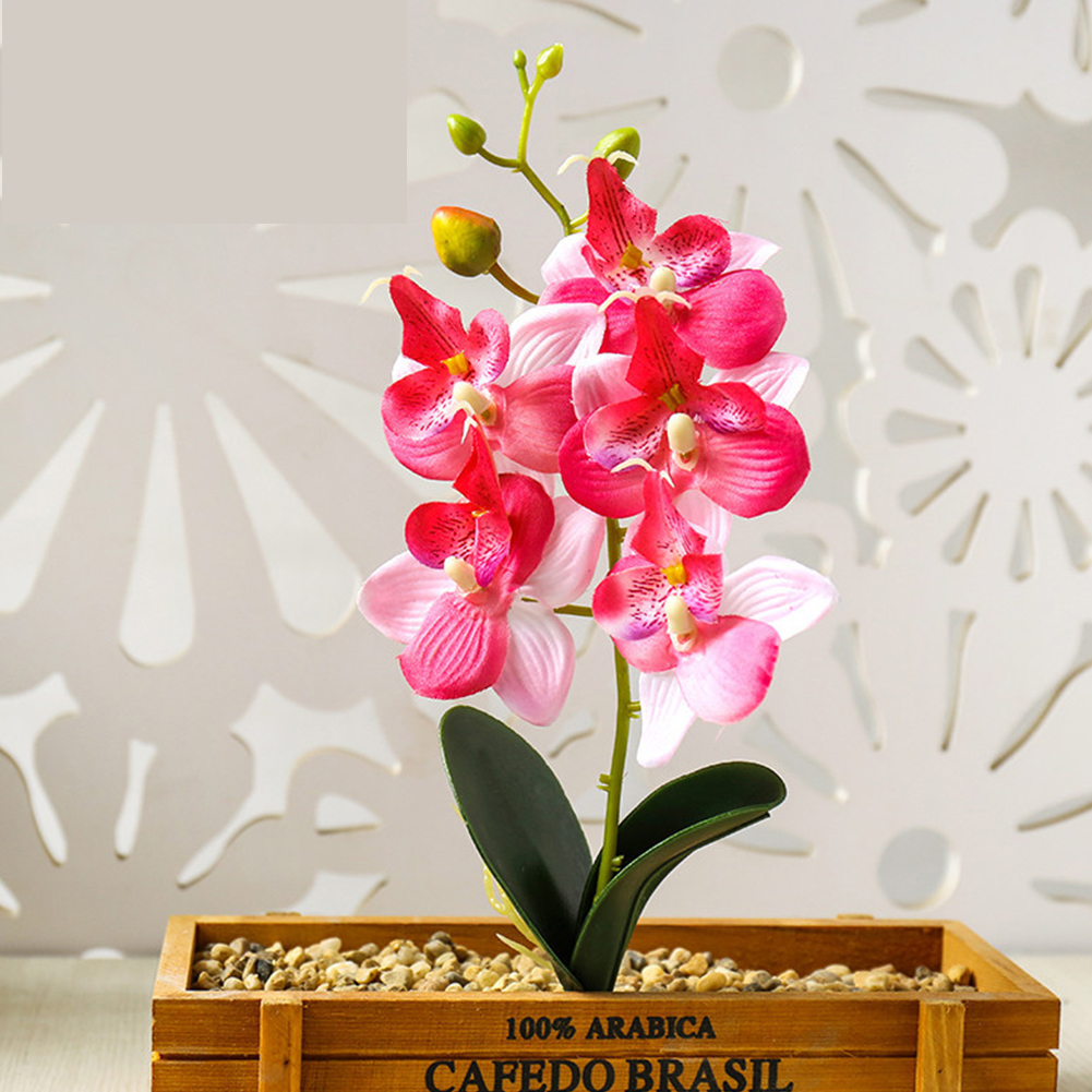 1PC Artificial Phalaenopsis Flower Home Decoration DIY Supplies Accessories Pink JH1407