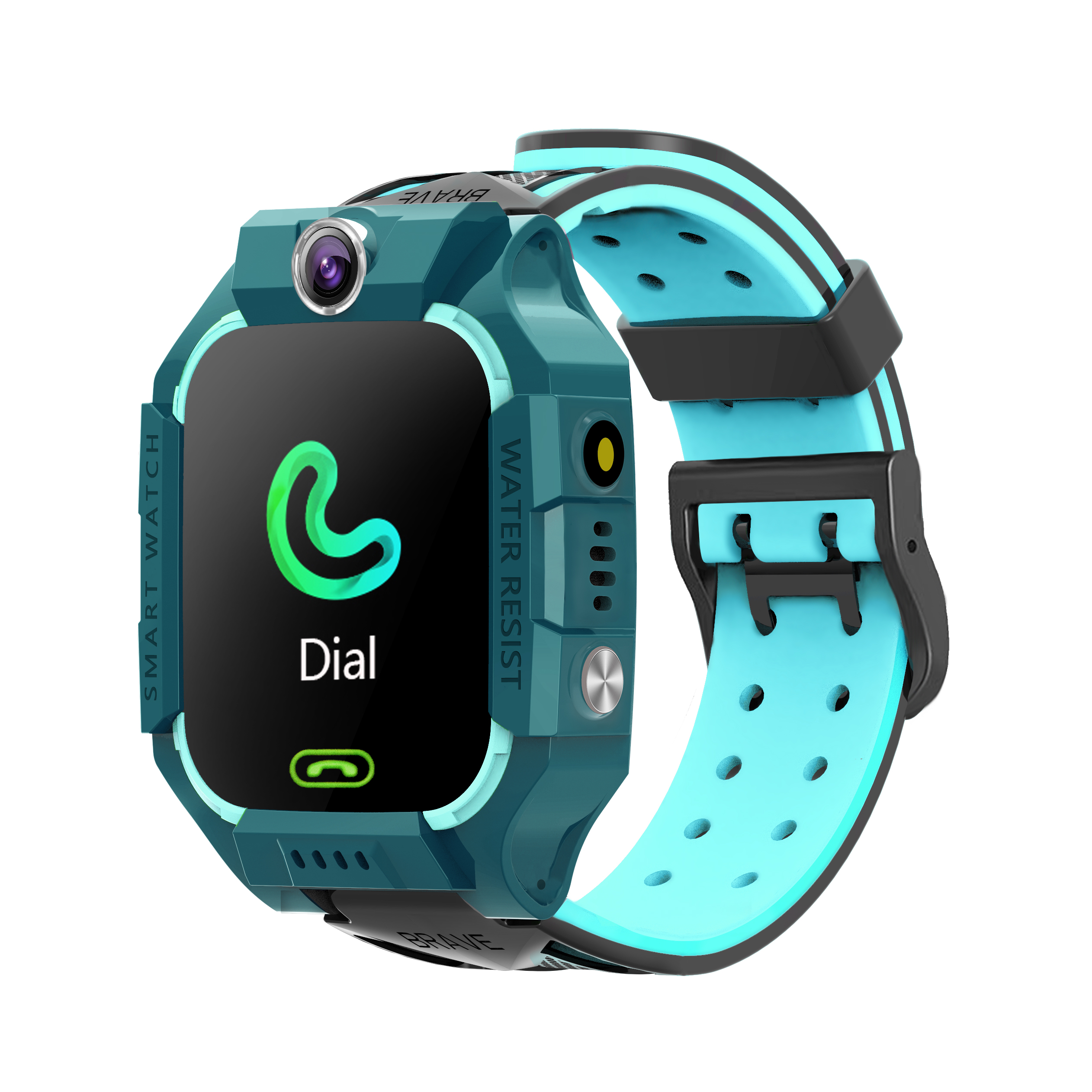 Z6 Children's Phone Watch GPS Flip rotation Location Kids Smartwatch Multifunctions Watch green
