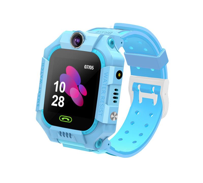 Z6 Children's Phone Watch GPS Flip rotation Location Kids Smartwatch Multifunctions Watch blue