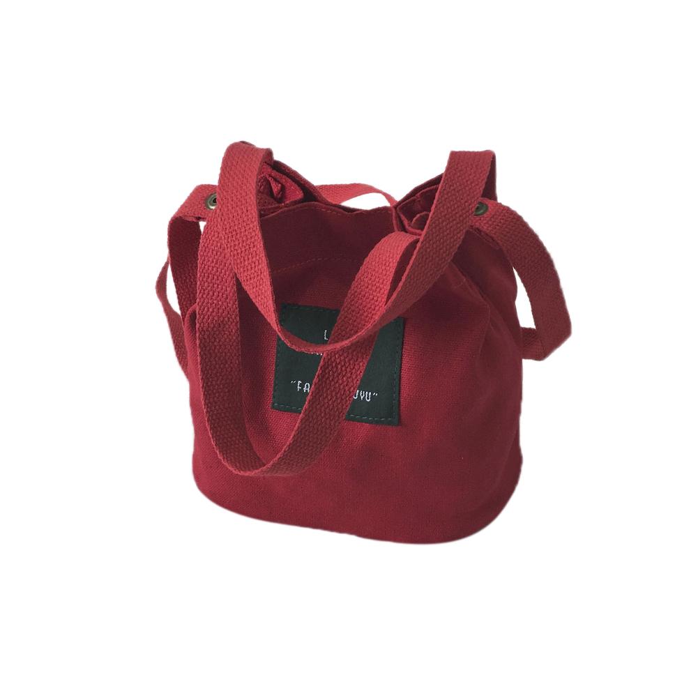 Canvas Single-shoulder Bag Concise Fashionable Schoolbag Portable Light Messenger Bag Wine red