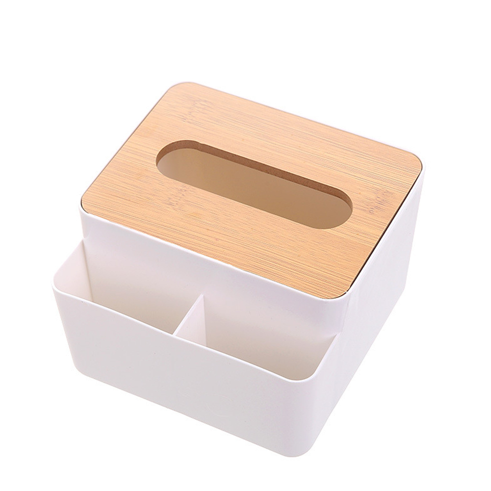 Tissue Box Home Multi-function Storage Living Room Coffee Table Wooden Napkins Holder
