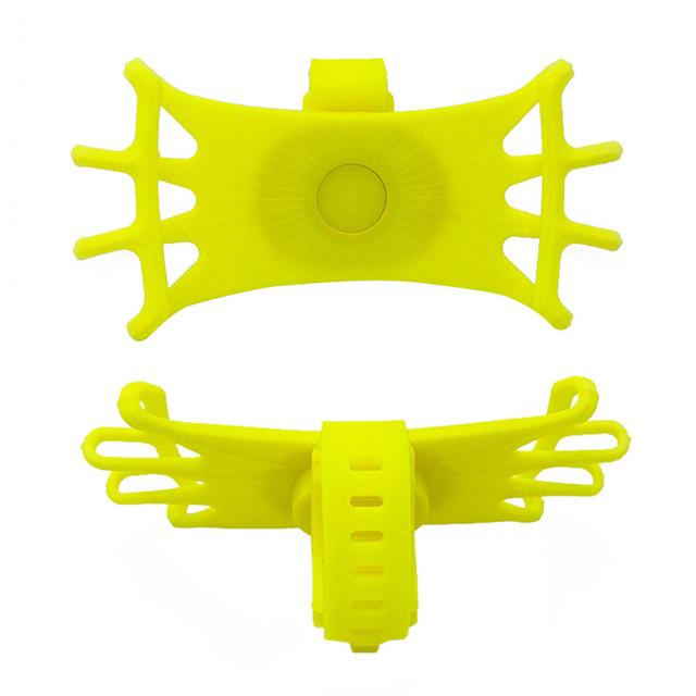 Universal Durable Bicycle Bike Handlebar Phone Stand Holder Bracket yellow