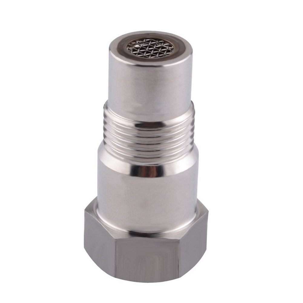 Oxygen O2 Sensor Spacer Adapter Bung Catalytic Converter Fix Check Engine Light Silver