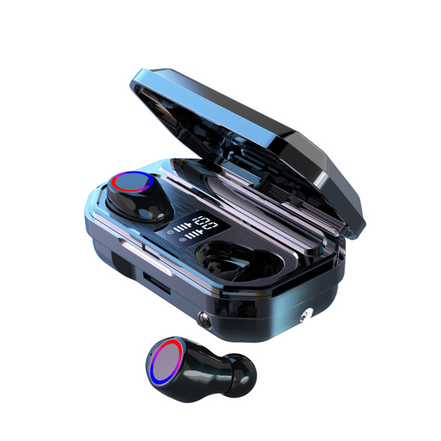 M12 TWS Wireless Bluetooth Headset Battery Powered Earbuds with Charging Cable for Outdoor Sports As shown