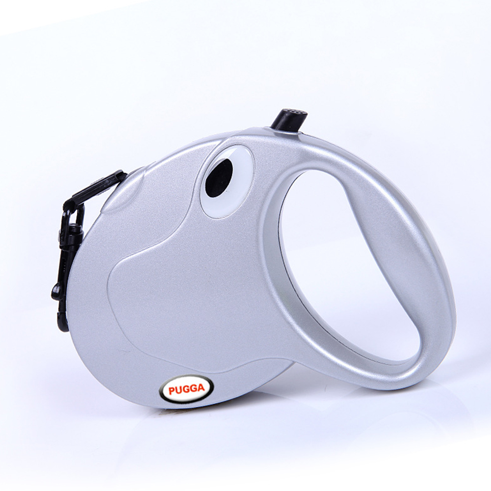 Retractable Dog Leash for Small Medium Large Pet Outdoor Walk silver_M-5M Sling is suitable for less than 50 kg (303g)
