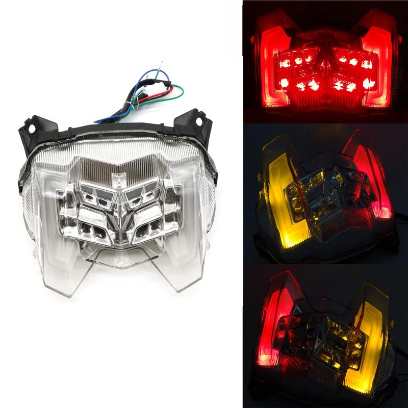 For Yamaha MT-09 FZ-09 18-19 Rear Tail Light Brake Turn Signals Integrated LED Light Transparent white shell