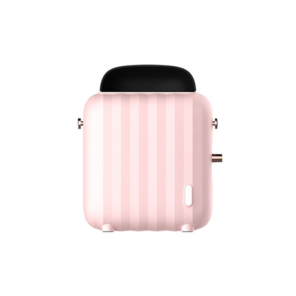 Luggage Case Shape Fan Heater Home Office Mini Desktop Warmer Machine Pink