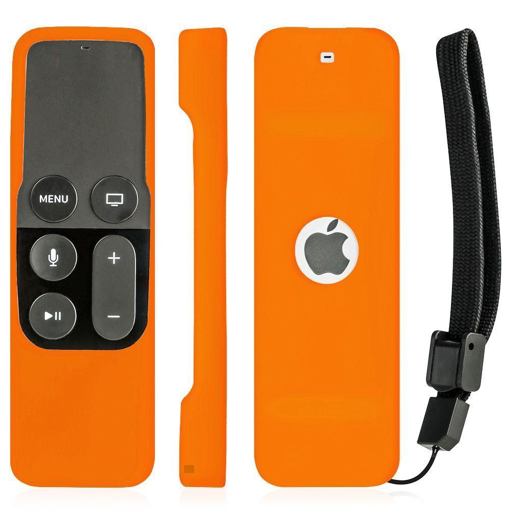 Silicone Remote Controller Case Protective Cover Skin for Apple TV 4th Gen Siri Remote Control Orange