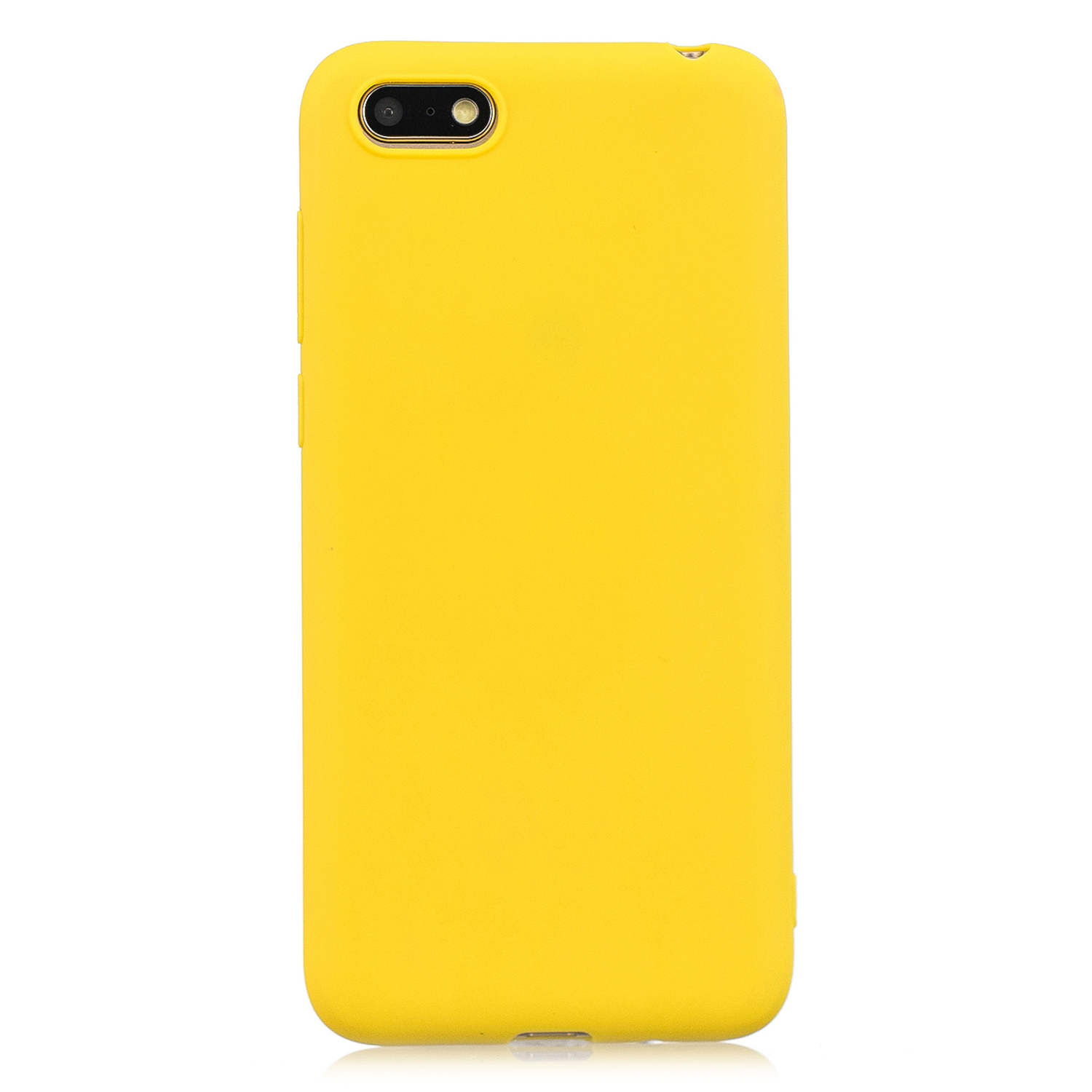 for HUAWEI Y5 2018 Cute Candy Color Matte TPU Anti-scratch Non-slip Protective Cover Back Case yellow