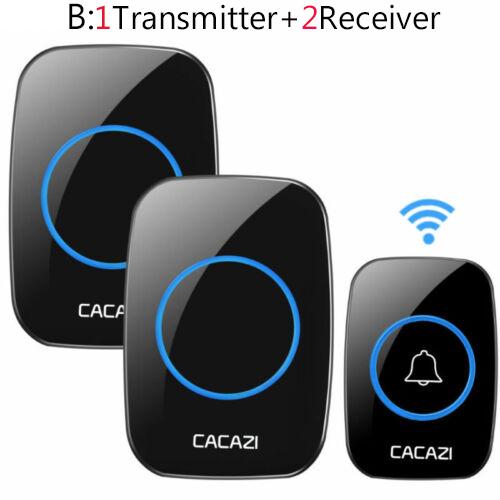Remote Waterproof LED Home Wireless Doorbell 38 Songs Chime Door Bell US plug