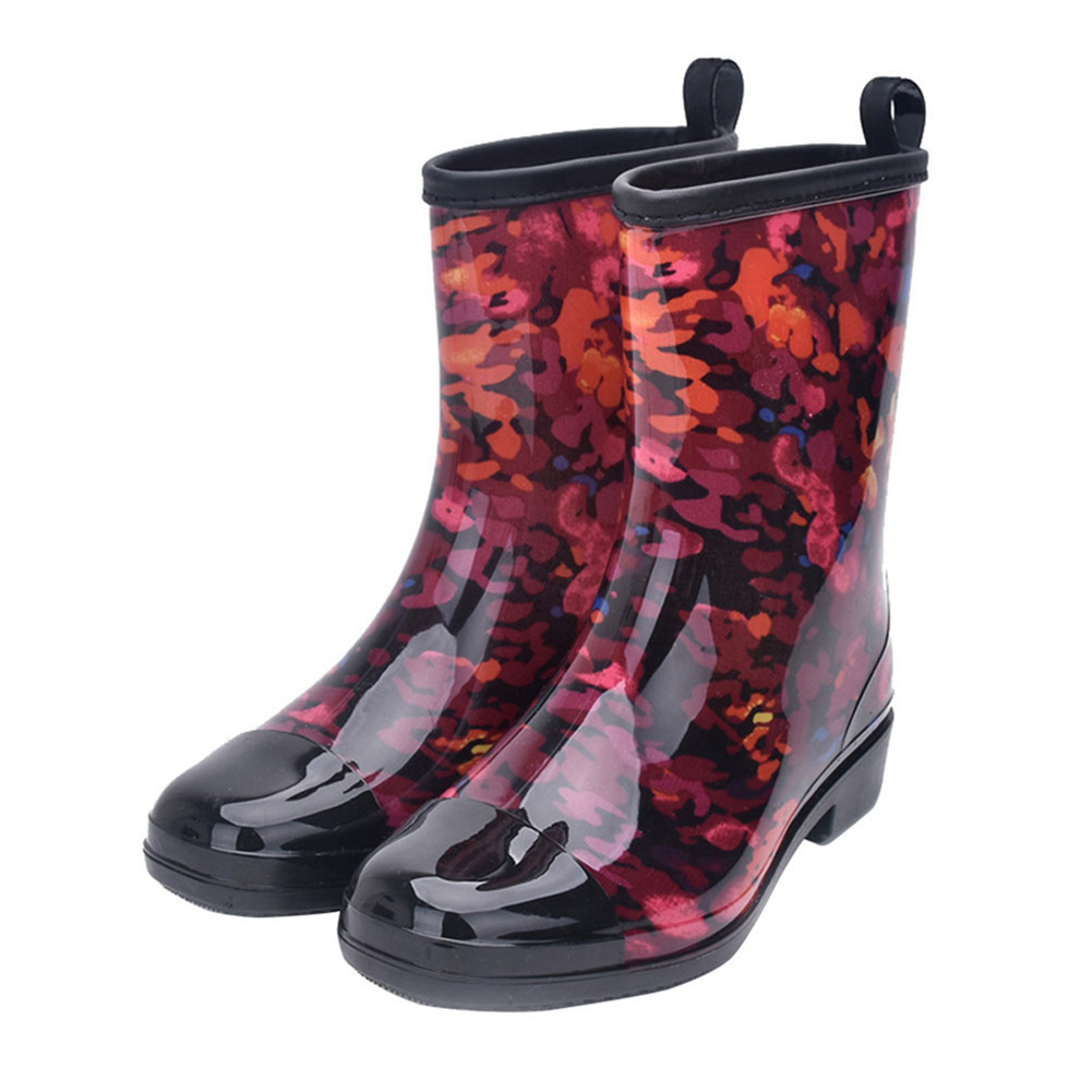 Fashion Water Boots Rain Boots Anti-slip Wear-resistant Waterproof For Women and Lady Color 067_37
