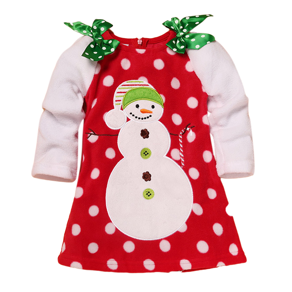 Children Girls Lovely Dot Dress with Double Shouder Bowknot as Birthday Christmas Party Dress Skirt