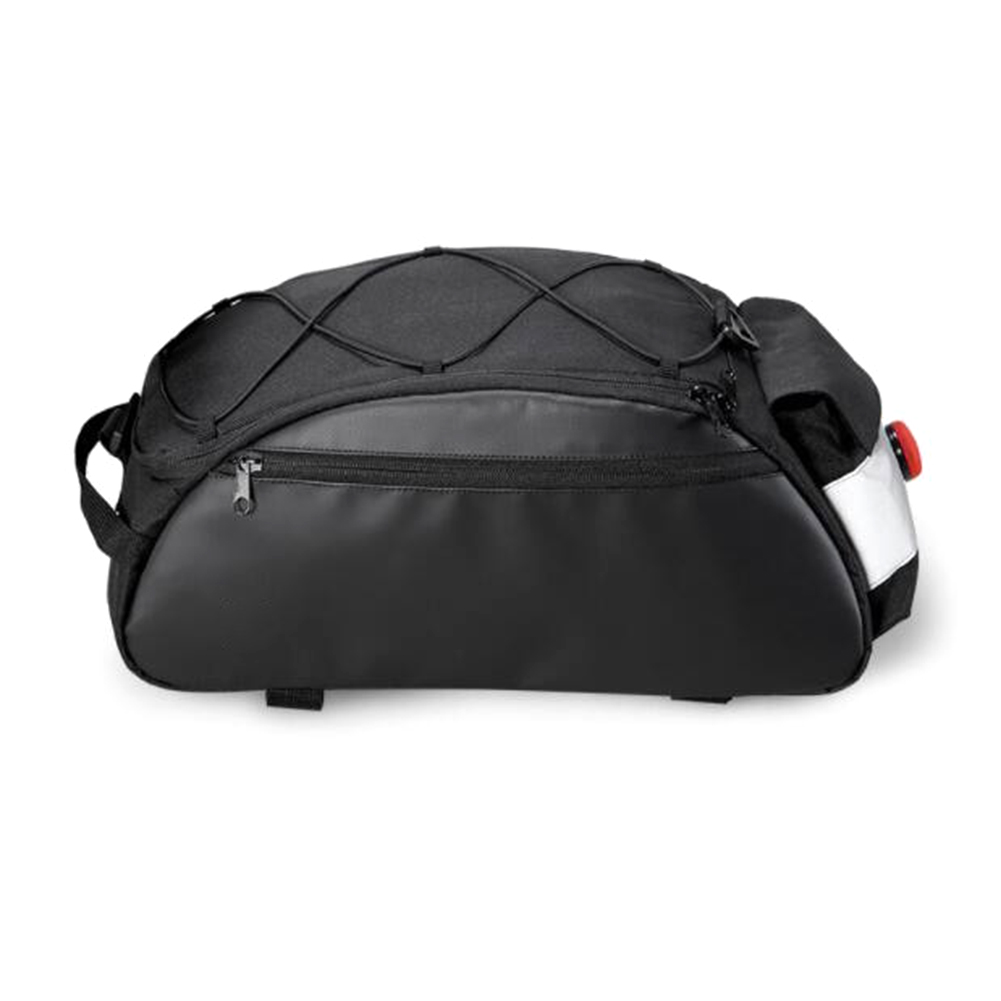 Waterproof Bike Rack Pouch Back Rear Seat Bag Backpack with Reflective Stripe for Cycling  Special size_142003 style with light