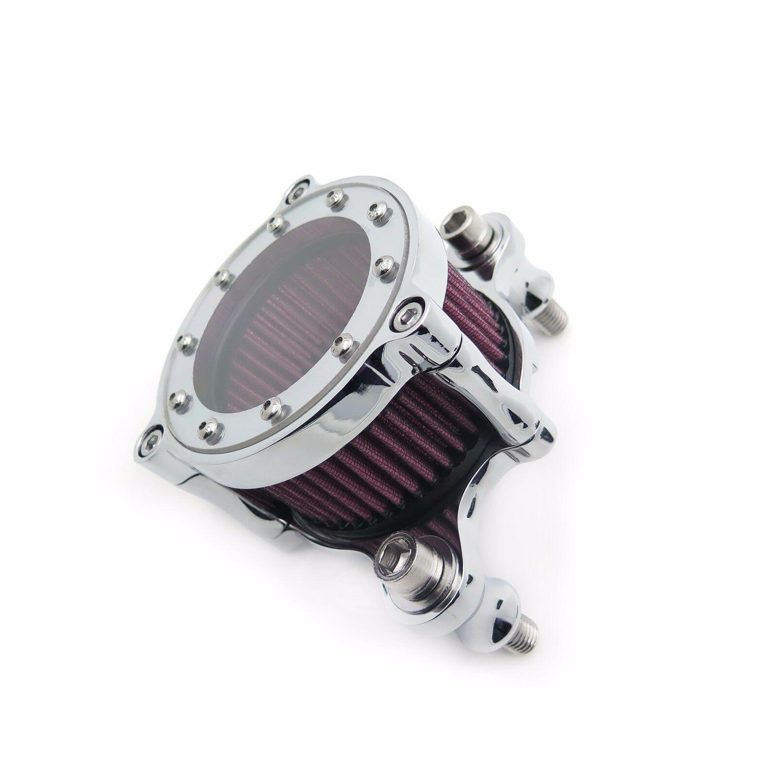 Air Cleaner Intake Filter Motorcycle Air Filter silver