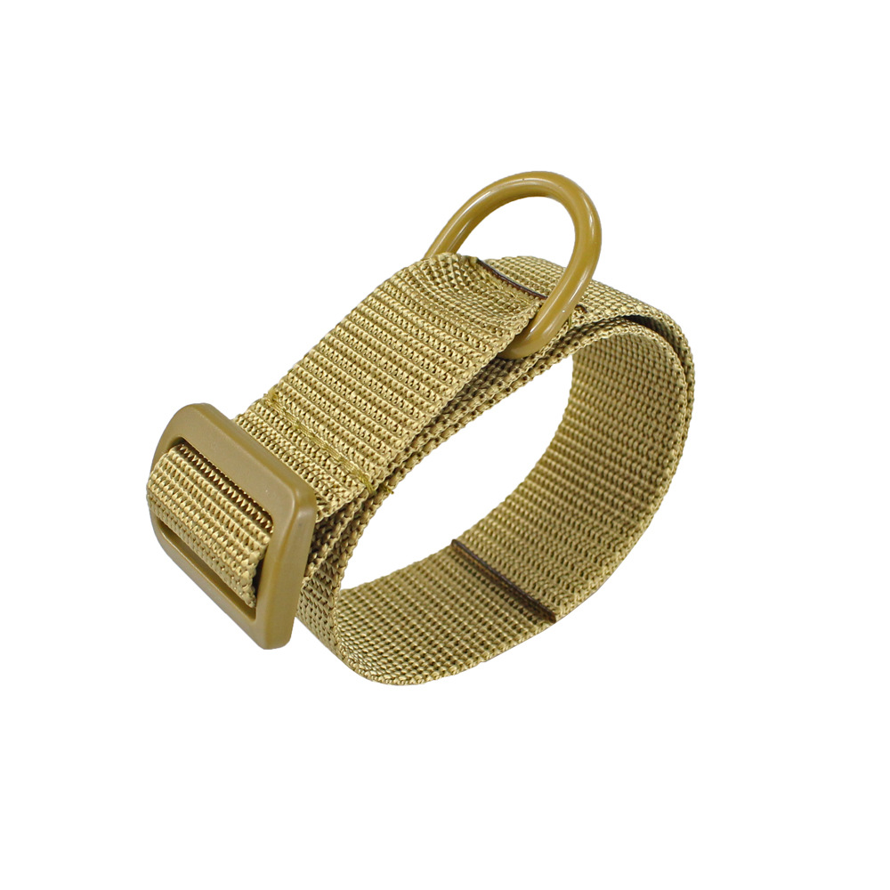 Multifunctional Nylon Portable Strapping Belt Dog Collar Khaki_About 3.2*41CM
