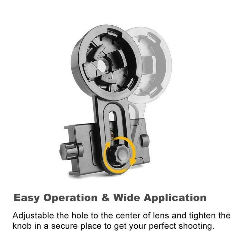 Universal Cell Phone Adapter Mount Holder Binocular Monocular for Spotting Scope Telescope black