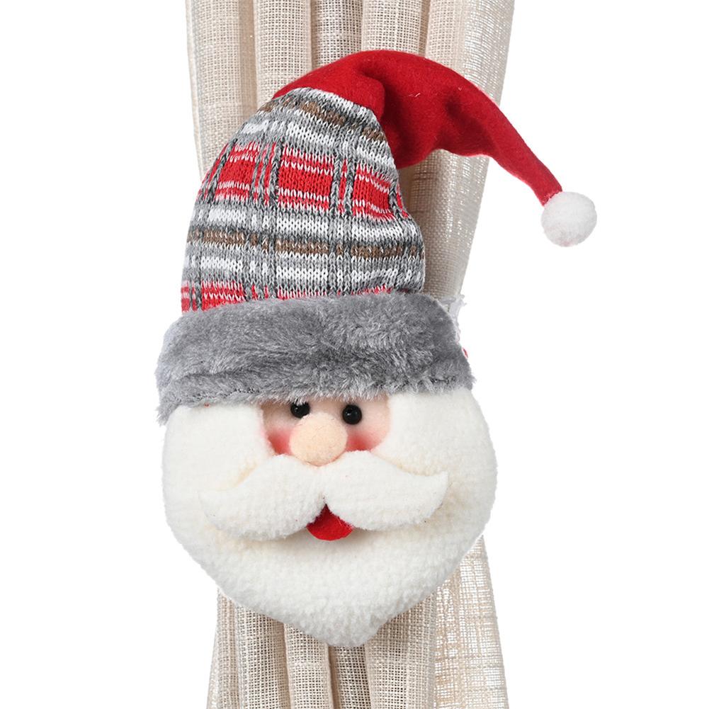 New Cartoon Creative Christmas Xmas Rubber Band Curtain Buckle Christmas Window Decoration Santa Claus