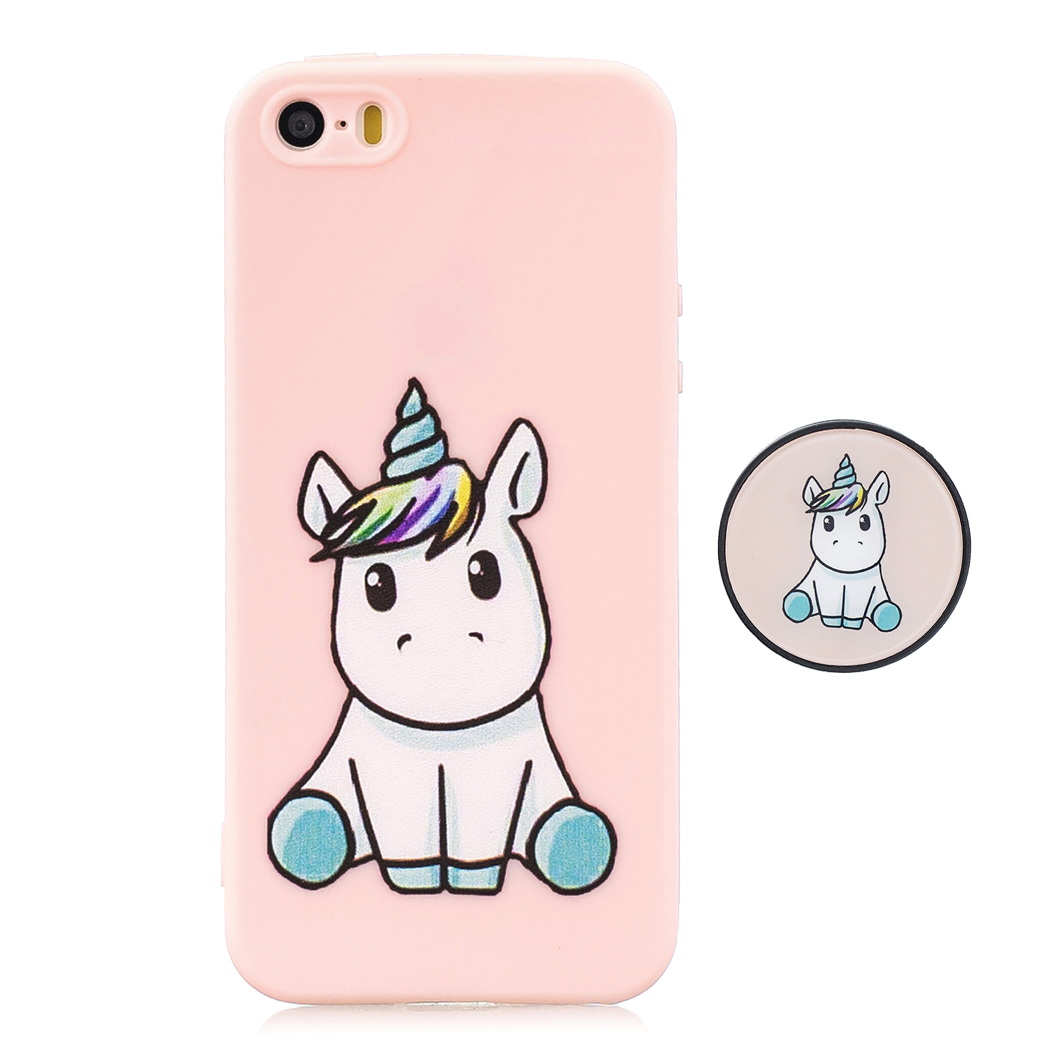For iPhone 5 5S SE Phone Cases TPU Full Cover Cute Cartoon Painted Case Girls Mobile Phone Cover 6