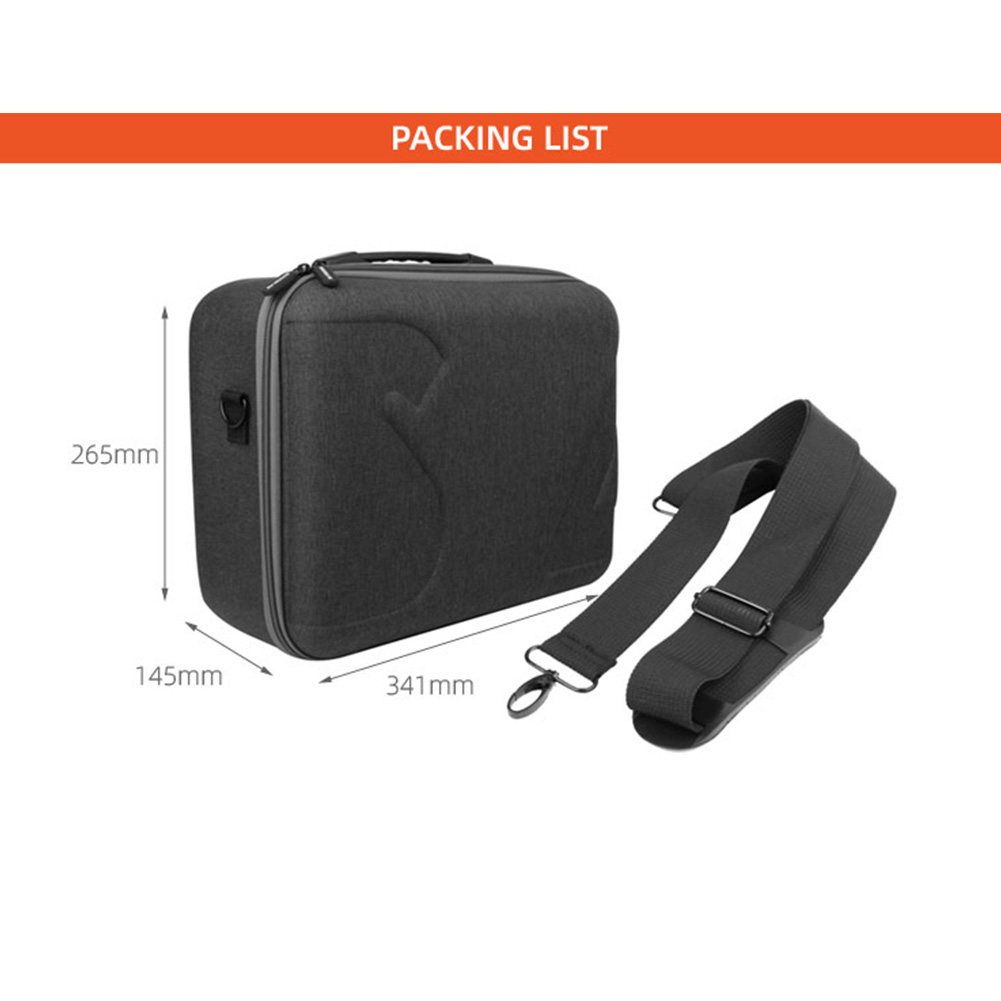 Portable Handbag Storage Carrying Case Shoulder Bag for Autel EVO II/ EVO II Pro/ EVO II Dual Drone black