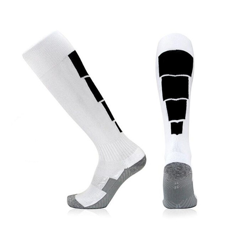 Winter Sports Long Socks Thermal Ski Snowboard Stretch Sleeve Skiing Hiking Sports Socks White black_One size