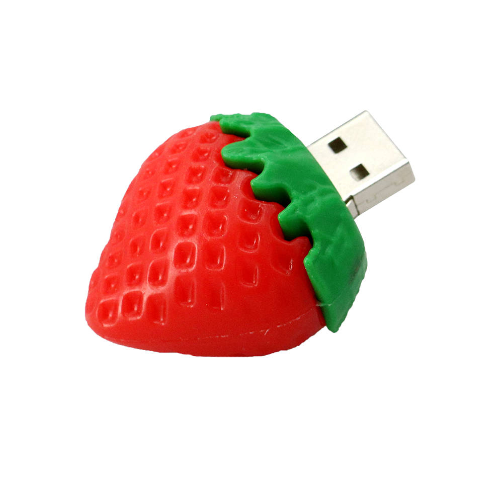 Lovely Red Strawberries Design U Disk L25 High Speed Memory Stick  red_128G