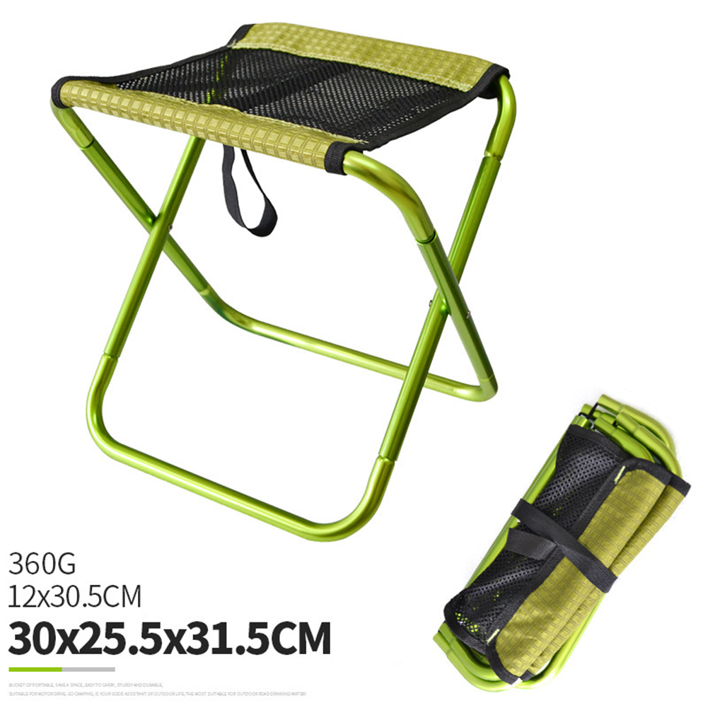 Folding Fishing Chair Lightweight Foldable Stool Outdoor Portable Outdoor Furniture green