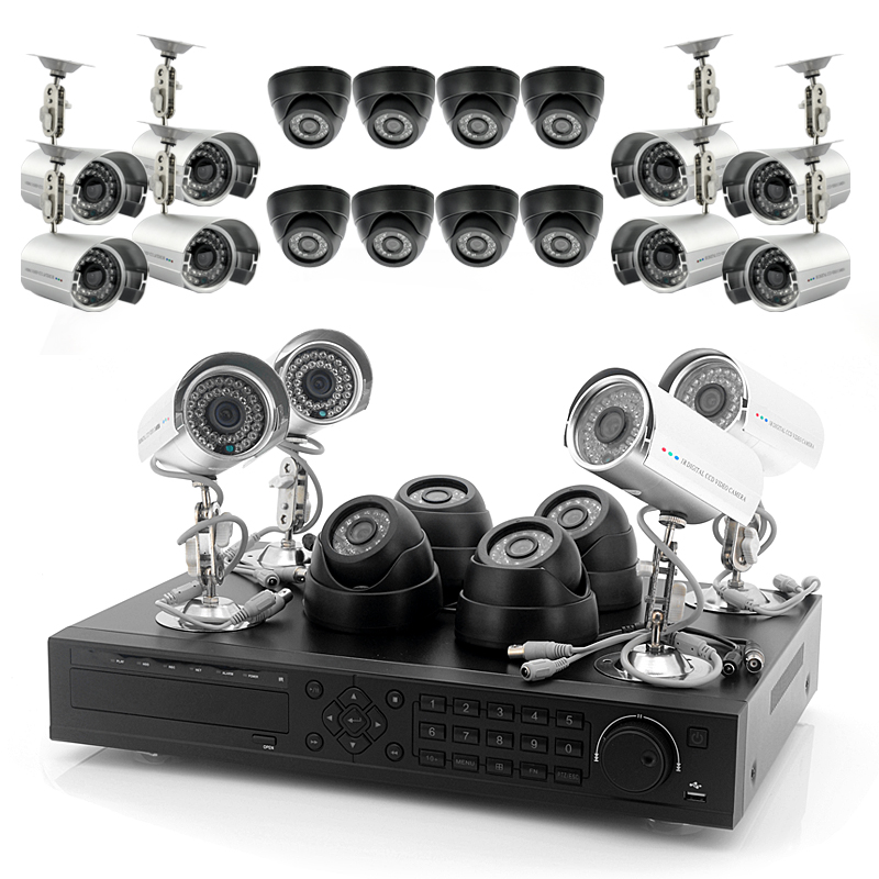 24 Camera Surveillance Set w/ HDMI