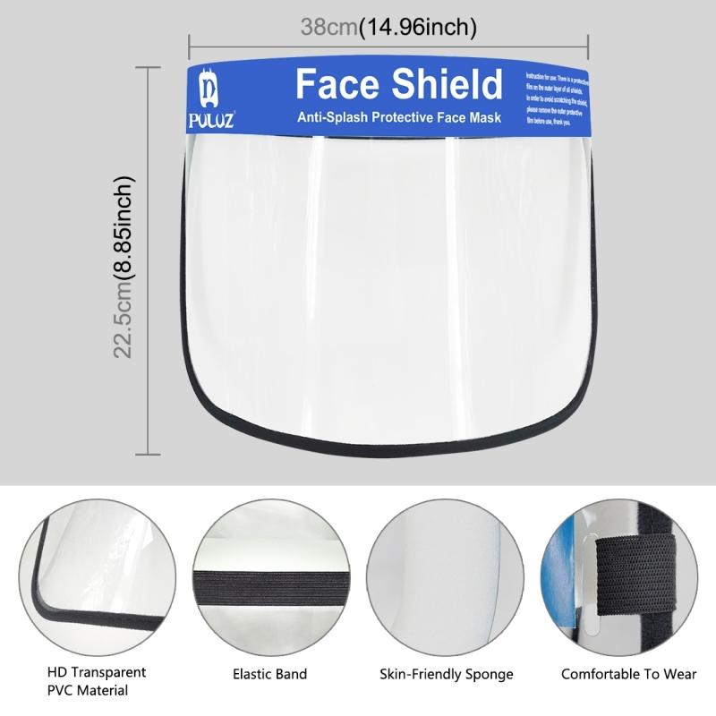 Transparent Face Guard Spittle Prevention Masks Anti-Splash Protective Mask Cooking Face Covers Transparent