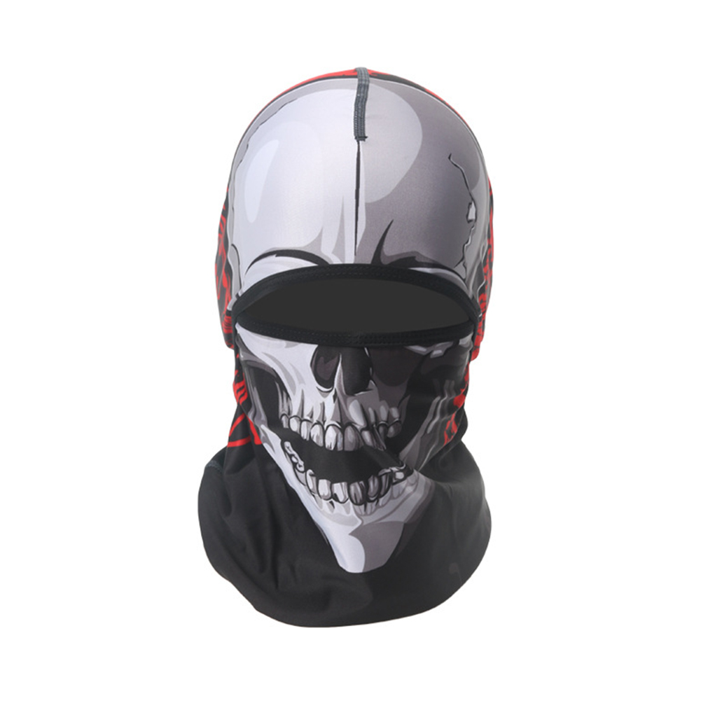 Skull Head Magic Turban Outdoor Sports Cycling Mountaineering Ski Headscarf Warm Breathable Mask 20#_One size