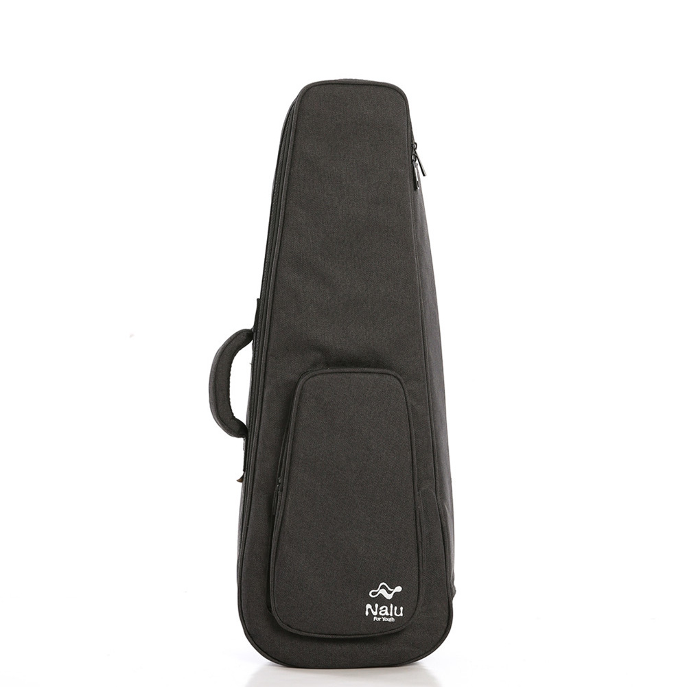 Ukulele Case Zip Up Thicken Sponge Backpack Pouch Dark Gray Storage Bag for 23 Inch/26 Inch Mini Guitar Ukulele 23 inches