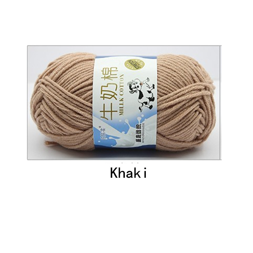 Hand Knitting Cotton Knitting Wool Doll Thread for Knitting Scarves Gloves Clothes Khaki