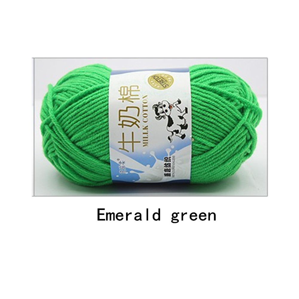Hand Knitting Cotton Knitting Wool Doll Thread for Knitting Scarves Gloves Clothes Emerald green