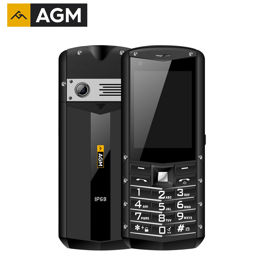 AGM M5 Simplified Android OS 4G LTE Type C Touch Screen IP68 Waterproof Rugged Mobile Phone 2.8 inch 2500mAH Phone black_1GB+8GB
