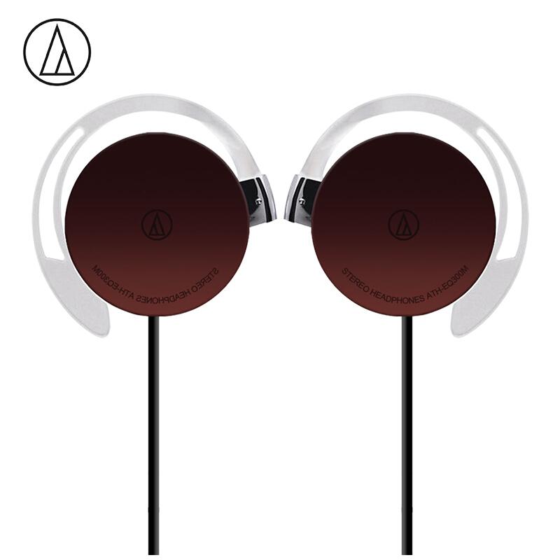Original Audio-Technica ATH-EQ300M Wired Earphone Sport Ear Hook Earphone Music Headset Ear Hook Sport Headphone Surround Bass Universal for Smartphone brown