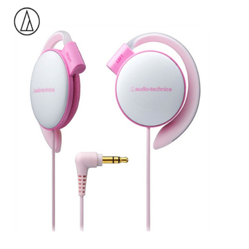 Original Audio Technica ATH-EQ500 Wired Earphone Music Headset Ear Hook Sport Headphone Surround Bass For Xiaomi Huawei Oppo Etc Pink