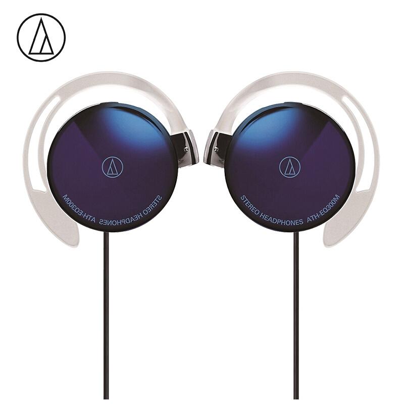 Original Audio-Technica ATH-EQ300M Wired Earphone Sport Ear Hook Earphone Music Headset Ear Hook Sport Headphone Surround Bass Universal for Smartphone purple