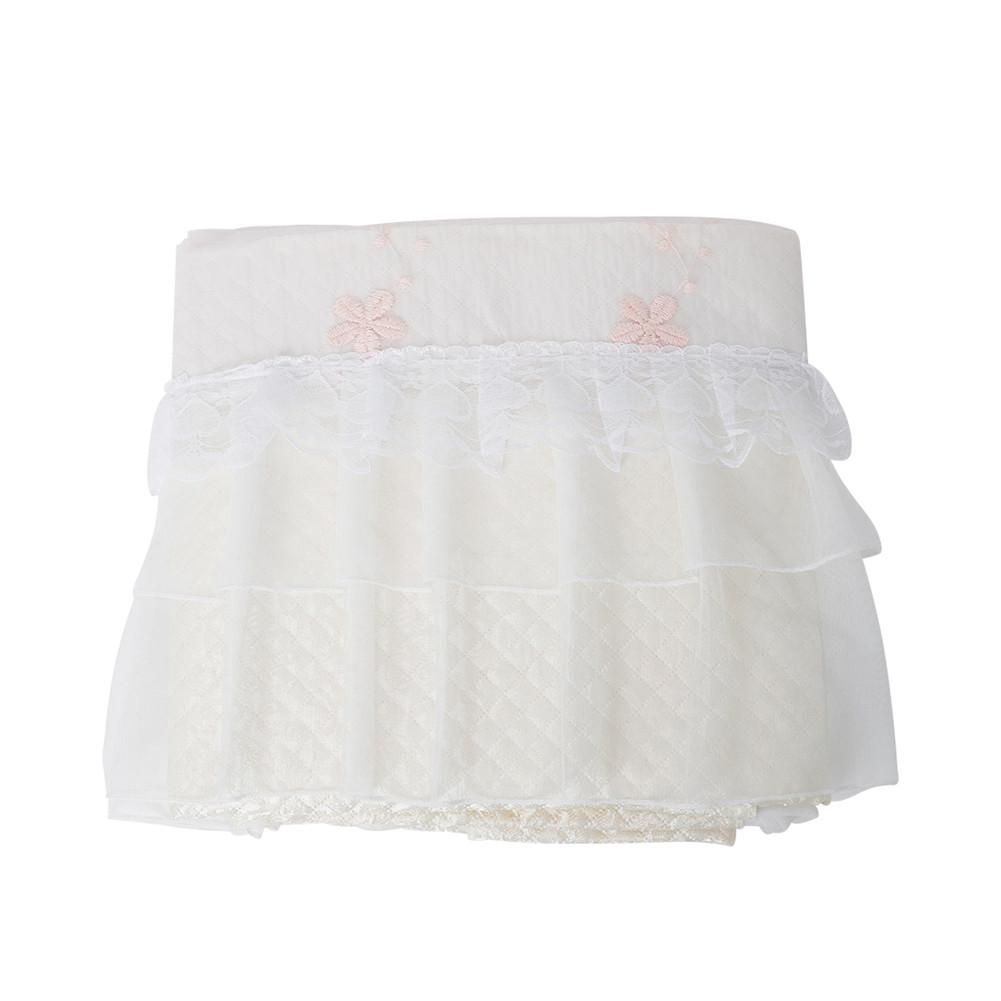 1PC Grand Piano Cover Thicken Dustproof Anti-static Lace Cover Stylish Elegant Piano Cloth Accessories white