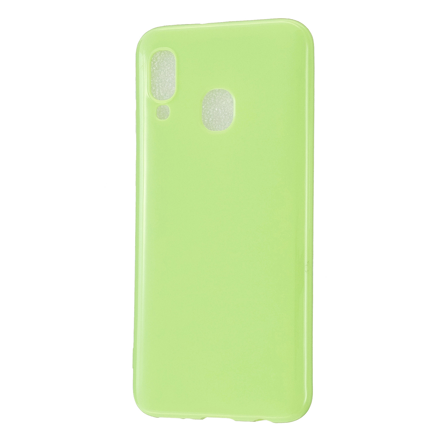 For Samsung A20E/A40/A70 Cellphone Cover Soft TPU Phone Case Simple Profile Scratch Resistant Full Body Protection Shell Fluorescent green