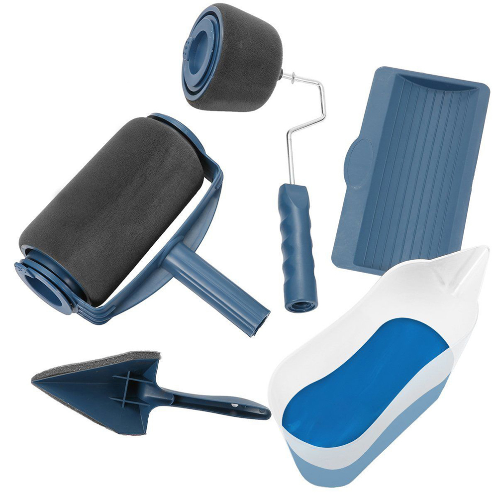 [EU Direct] 5PCS Multifunctional Paint Roller Brush Set Wall Painting Tool Package weight: 560g