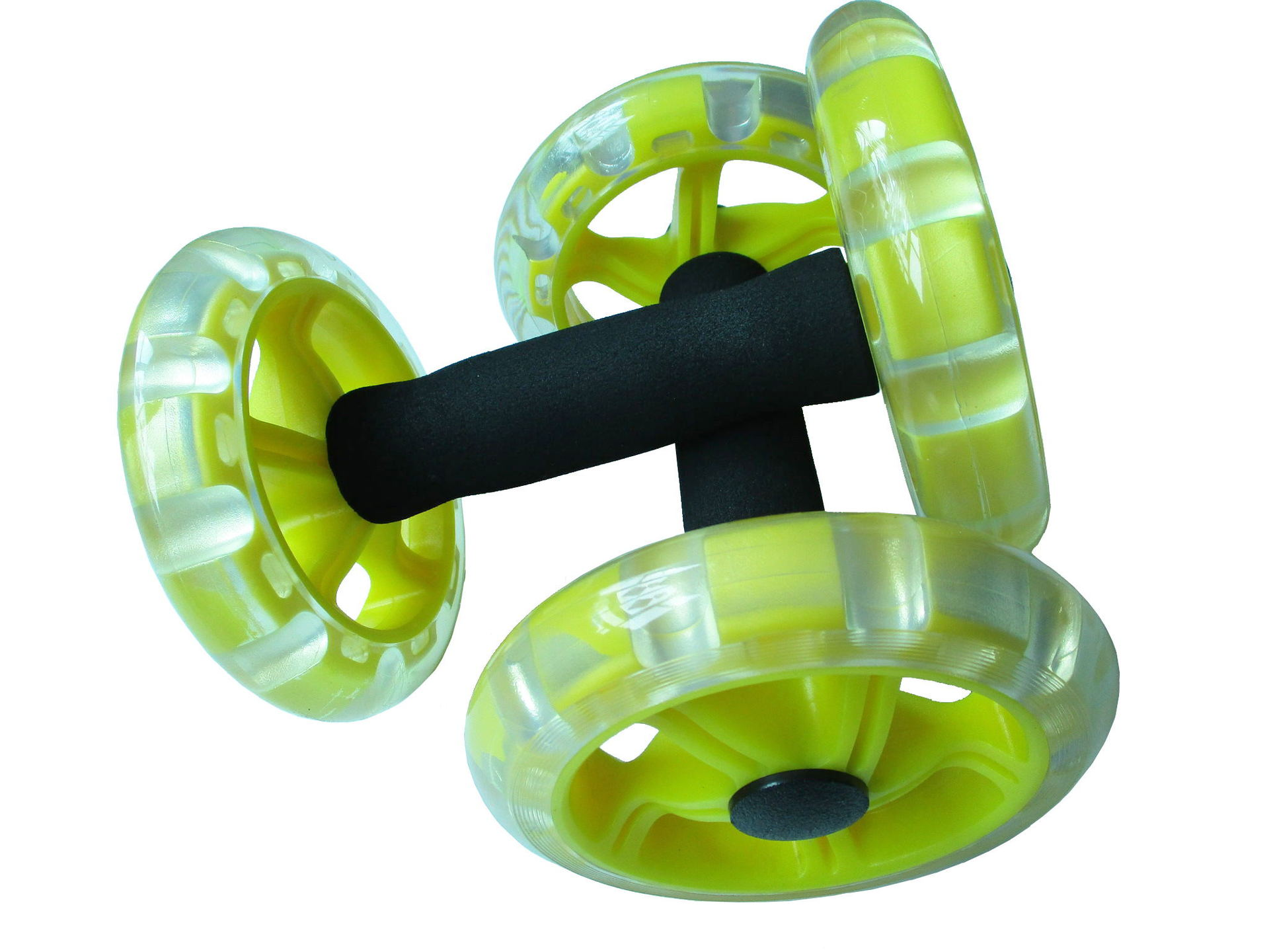 AB Wheel Rollers Four-wheeled Core Abdominal Wheels Workout for Ab Training Gym Home  yellow
