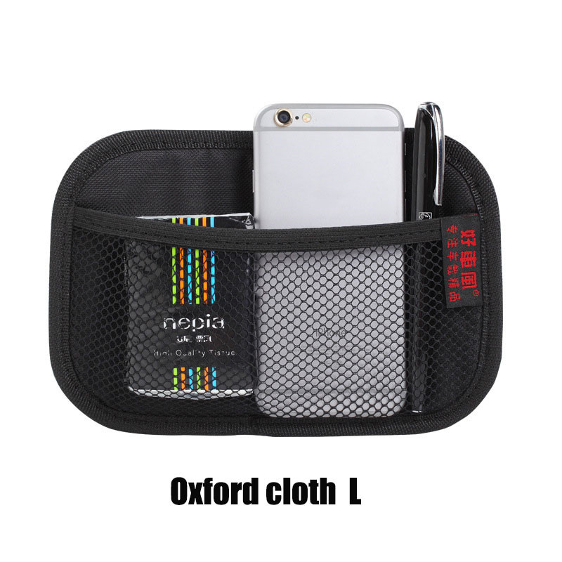 Car Storage Net Bag Pocket Organizer Interior Accessories for Car Organizer Oxford cloth black large